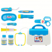 WSSB Role Play Toy Doctor Pretend Medical Set Kit Case Educational Role Playset Gift For Kids
