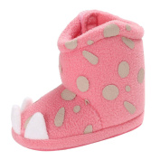 MML Baby Shoes, Girl Boy Soft Booties Polka Dot Snow Boots Toddler Newborn Warming Shoes For 1.5-3 UK