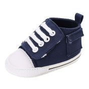 Minuya Baby Boy Girl Canvas Lace First Step Non-Slip Sole Safe Comfortable Shoes