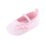 Minuya Toddler Infant Newborn Baby Girl Lace Up Bowknot Princess Shoes