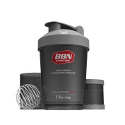 Best Body Nutrition High Quality Shaker with Bullet Ball - Black, One Size