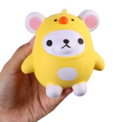 Dinglong Squishy Squeeze Toys Kawaii Cute Bear Jumbo Slow Rising Collection Cure Decompression Toys, Stress Reliever Soft Toys Gift for Adult and Kid