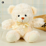 CALISTOUK Cute Bear Plush Toy Stuffed Doll Girlfried Kids Birthday Christmas Gift Color05#