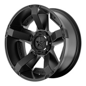 XD Series by KMC Wheels XD811 Rockstar II Satin Black Wheel With Accents