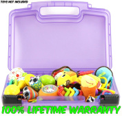 Life Made Better Baby Toy Storage Organiser. Keep Your Baby...s Toys In This Colourful Box. Stores Baby Rattles, Baby Maracas, Developmental Toys and Baby Gifts.