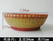 Handmade bamboo basket basket baskets and kitchen supplies