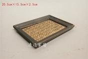 Wood bamboo rattan tray club SPA creative Handmade fruit plate,15cm x 20cm