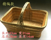 Bamboo bamboo basket basket portable kitchen storage basket,A