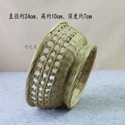 Home Furnishing pure Handmade kitchen storage basket bamboo rattan fruit basket,24*10*7 cm