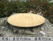 Bamboo trays tableware round rectangular candy dish creative household dry fruit,B 28*2 cm