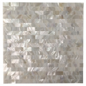 Art3d Mother of Pearl White Shell Mosaic Tile for Kitchen Backsplashes, Bathroom Walls, Spas, Pools, 30cm x 30cm Seamless