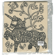 Giraffe Crafts Stamped Canvas Tote To Colour-Unicorn