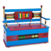 Childrens Toy Box Bench with Musical Theme & Xylophone