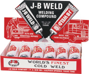 6/PACK J-B WELD COMPANY 8265 COLD WELDING COMPOUND DISPLAY