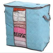 Foldable Storage Bags With Zipper,Transparent Window Compact Clothing Storage Bag for Clothing Quilt
