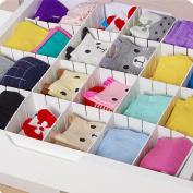 6 Pcs Cabinet Divider Drawer Clapboard DIY Storage Organiser for Home Space Saving