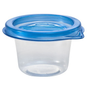 Nicole Home Collection Containers with Lids, Round, 120ml, Clear, 8 Ct