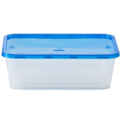 Nicole Home Collection Containers with Lids, Rectangular, 740ml, Clear, 4 Ct