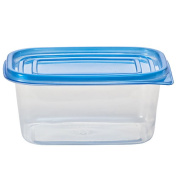 Nicole Home Collection Containers with Lid, Rectangular, 710ml, Clear, 4 Ct