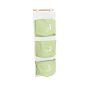 3 Pockets Wall Hanging Sundry Storage Bag Cotton Linen Organiser Bag Home Organiser Pouch