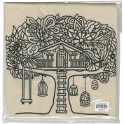 Giraffe Crafts Stamped Canvas Tote To Colour-Tree House