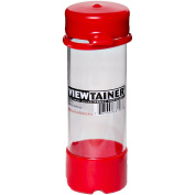 Viewtainer Tethered Cap Storage Container 5.1cm x 15cm -Red