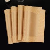 Xuan - worth having Placemat Table mats PVC Western insulation pad Rectangular Bowl pad mat 4 pcs Diagonal (45 * 30 cm) Placemats