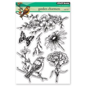 Penny Black Garden Charmers Clear Unmounted Rubber Stamp Set