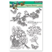 Penny Black Fragrant Flowers Clear Unmounted Rubber Stamp Set
