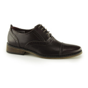 Goor Francis Boys Lace Up Brogue Oxford Shoes Oxblood UK 5.5