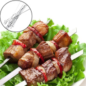 10Pcs Stainless Steel BBQ Skewers Kebabs SOMESUN Cook Grill Frying Barbecue Sticks