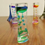 Double Colours Oil Droplets Hourglass Liquid Floating Motion Bubbles Timer Desk Decors