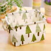 Daeou Toy storage barrel cotton hemp foldable clothes basket waterproof laundry basket storage basket