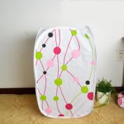 Daeou Printed clothing hamper basket storage basket laundry basket