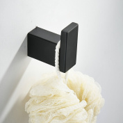 Towel Hook for Bathroom,Black Colour,SUS304 Stainless Steel,Square Style, Beelee BA8006B