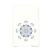 Bungalow Rose Snowflake Star Hand Towel