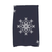 The Holiday Aisle Holiday Wishes Falling Snow Hand Towel