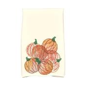 Alcott Hill Miller Pumpkin Pile Holiday Print Hand Towel