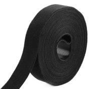 Outdoor Office Microfiber Sticky Tape Self Adhesive Hook and Loop Fastener Black