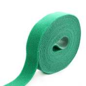 Outdoor Office Microfiber Sticky Tape Self Adhesive Hook and Loop Fastener Green