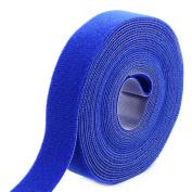 Outdoor Office Microfiber Sticky Tape Self Adhesive Hook and Loop Fastener Blue