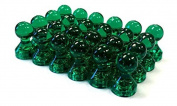 24 Green Magnetic Push Pins - Perfect Magnets for Fridge, Calendars, Whiteboards, and Maps