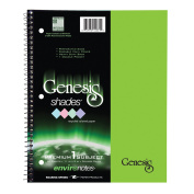 GENESIS SHADES ONE SUB 28cm POLY COVER-GREEN PAPER COLLEGE RULED MRG