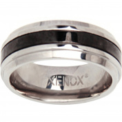 Xenox X1915 60 XENOX & Friends Stainless Steel 1.9cm Silver Mens Ring Size 60