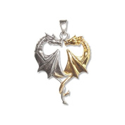 Dragon Heart Pendant Necklace Sterling Silver
