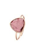 Cordoba Jewels | sortija in 925 Sterling Silver Plated in Rose Gold with Stone semipreciosa. Design Triangle Amethyst Rose Gold
