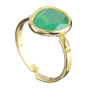 Cordoba Jewels | Ring in 925 Sterling Silver Gold Vermeil. Design Dolce Gold Emerald