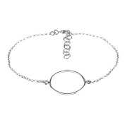 Cordoba Jewels |pulsera in 925 Sterling Silver with Simple Design Circle