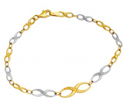 Gold Bracelet Ladies Gold Bracelet Infinity Bracelet 585 14-Carat
