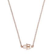 Cordoba Jewels | Choker in 925 Sterling Silver Rose Gold Vermeil. Design Hand of Fatma Trendi Pink